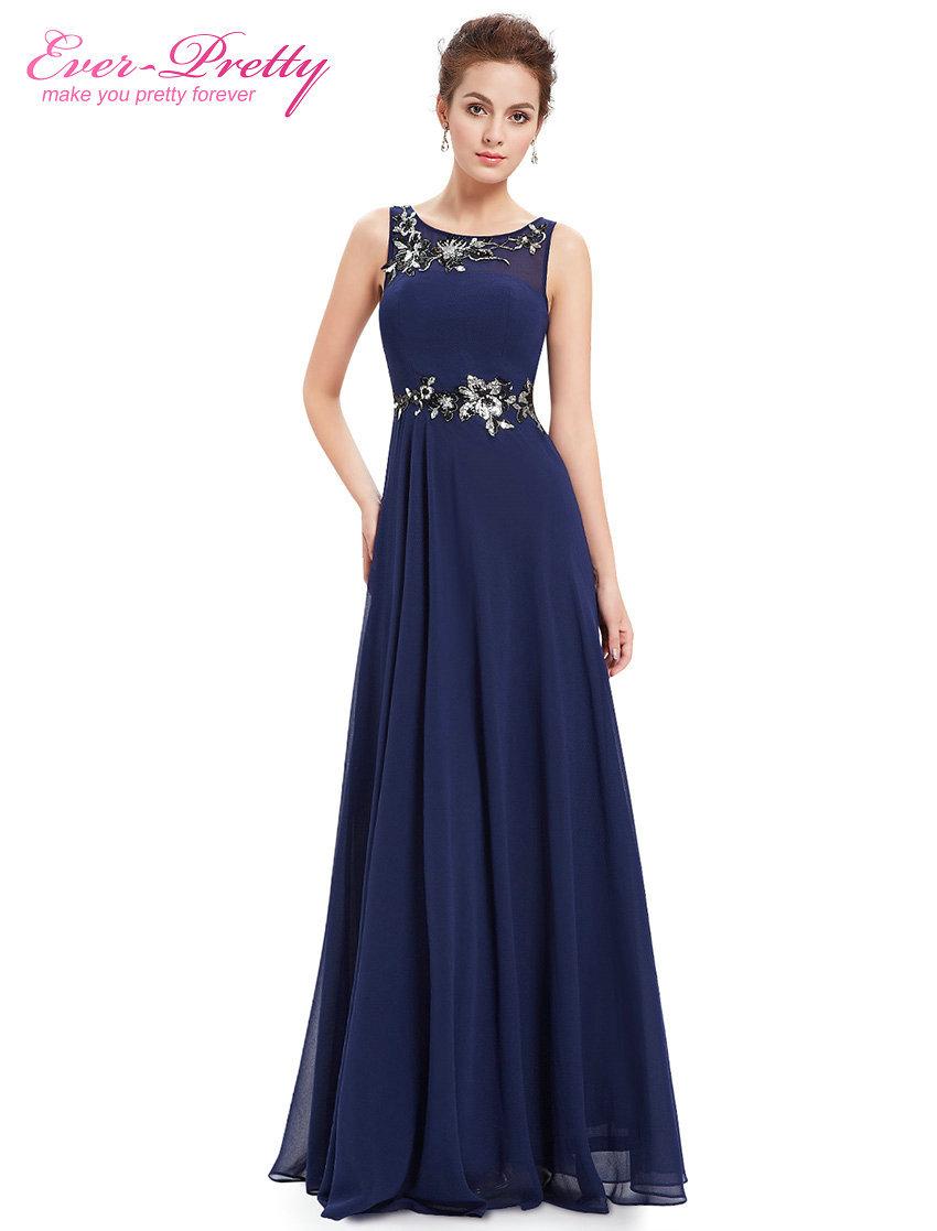 Evening Dresses Ever Pretty HE08531NB Women Dresses Navy Blue Vestido 2015 Vestido De Festa Longo Evening Dress Evening Gown(China (Mainland))
