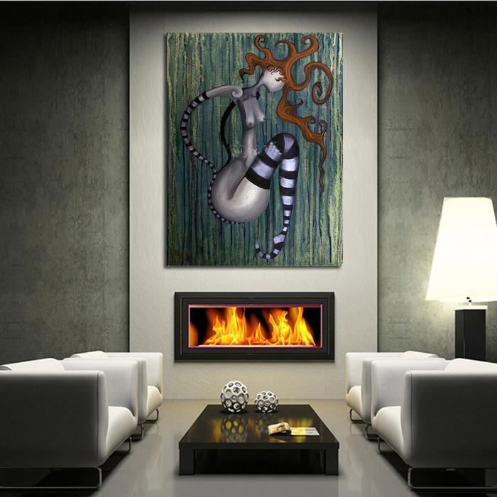 gro handel der clown botanische kunst wand l malerei auf leinwand hand gemalt beste abstrakte. Black Bedroom Furniture Sets. Home Design Ideas