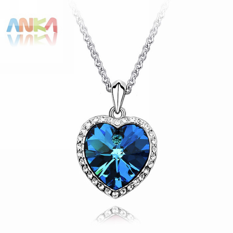 Heart Of The Ocean High Quality Titanic 100 Years For Women Crystal Rhinestone Jewelry Crystals from