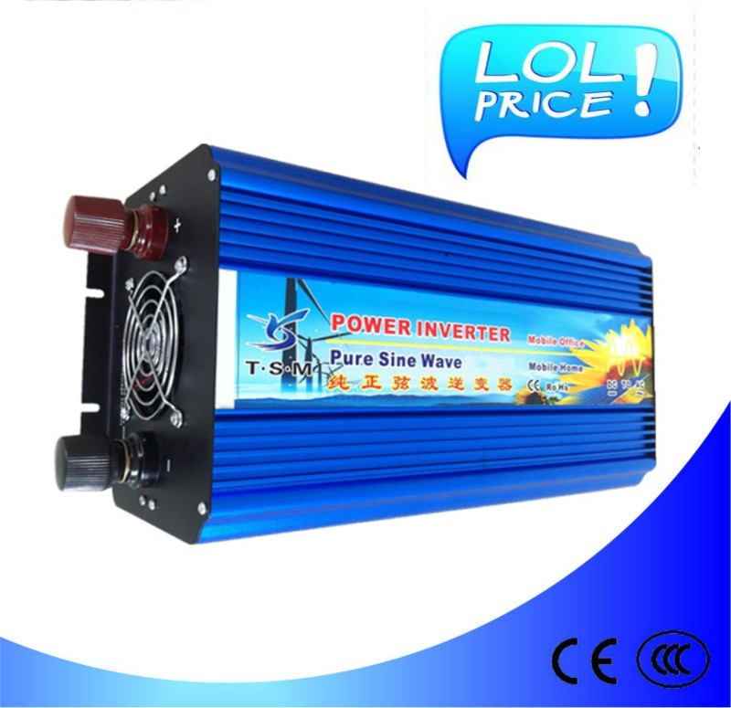 5convertisseur 12v 220v  4000W/4KW 12V to 220V ac Pure Sine Wave Power Inverter (8kw/8000w peak power) Free shipping<br><br>Aliexpress