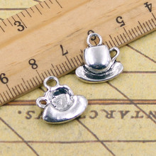 Buy 10pcs Charms coffee tea cup saucer 15*14mm Tibetan Silver Plated Pendants Antique Jewelry Making DIY Handmade Craft for $1.44 in AliExpress store