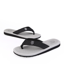 New Men Brand Flip Flops Fashion Slippers Rubber Sole Casual Men Flip Flops Leather Sandals Beach Shoes Men Bak ham Same shoes
