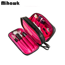 Buy Double Layer Cosmetic Bag Travel Organizer Waterproof Makeup Cases Pouch Beauty Brushes Lipstick Toiletry Accessories Supplies for $6.39 in AliExpress store