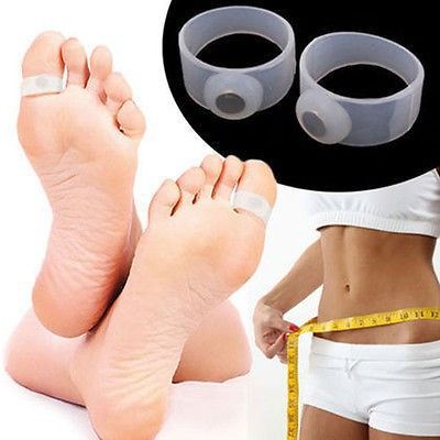 1Pairs Soft Silicone Magnetic Toe Ring Keep Slim Fitness Weight Loss Health Diet New(China (Mainland))