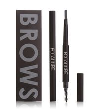 3 Colors Eye Makeup Waterproof Eye Brow Eyeliner Eyebrow Pen Pencil with Brush Makeup Cosmetics Tools 2017(China (Mainland))
