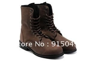 Hot Retro Combat Military Mens Boots Suede Shoes Casual Boot Black Brown A460