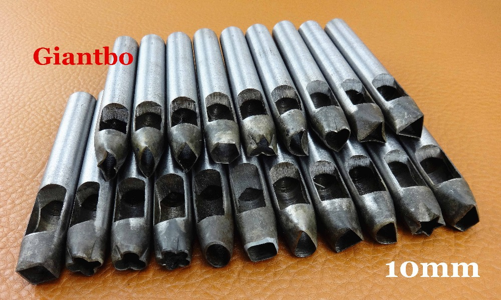 20 Pcs Leather Wallet Bag Gasket Hollow Hole Different shape Punch 10mm(China (Mainland))