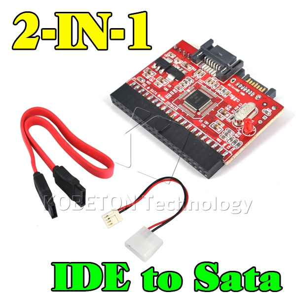 """Brand New 2 in 1 SATA to IDE Adapter IDE to SATA Converter 40 pin 2.5"""" inch Hard Disk Driver Support for ATA 133 100 HDD CD DVD(China (Mainland))"""
