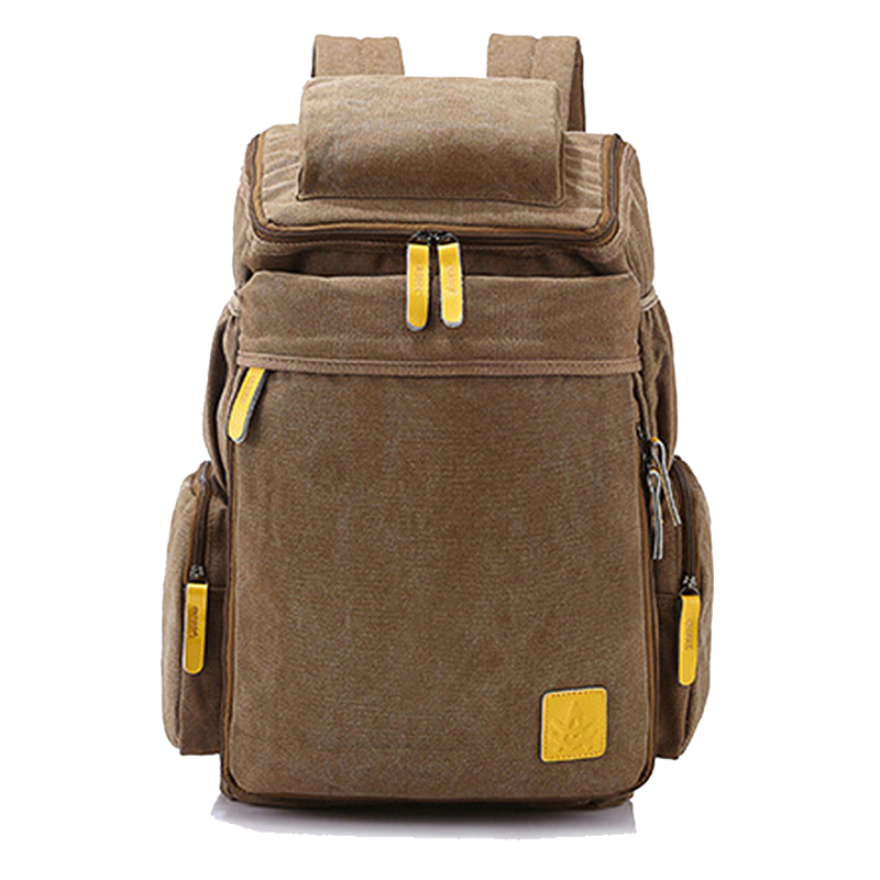 MY9073 2015 New Casual Canvas Men Backpack Retro Vintage Male Students School Bags Outdoor Man Shoulder Travelling Bag - mabu store
