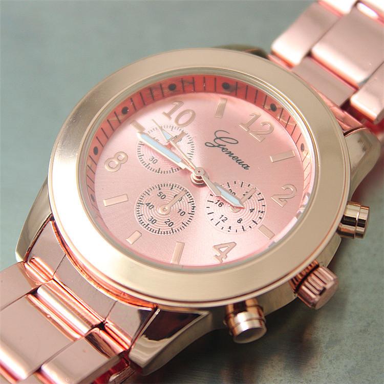 2015 New Arrival Geneva Watch Full Steel Watches Women dress Analog wristwatches men Casual watch 2015 Unisex Quartz watches(China (Mainland))