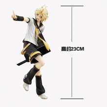 Anime Figure 23CM Hatsune Miku Kagamine Rin Len Tony Ver. PVC Action Figure Collectible Model Toy