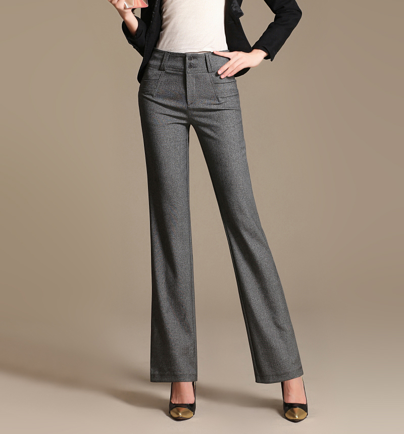 Awesome Full Length Professional Business Formal Pants Women Trousers Girls