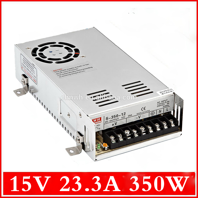 Free Shipping LED Adapter/ Power supply 15V 350W 23.3A Non-waterproof use for 5050 or 3528 strip lights /led transformer<br><br>Aliexpress