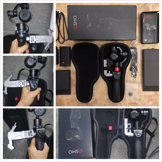 Original DJI Osmo Genggam Handheld 4K Camera and Stabilizer Gimbal Original 3-Axis Gimbal DJI phantom 3 DHL EMS Free shipping !