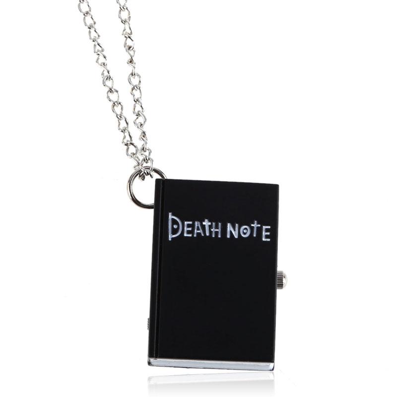 Chic Death Note Classic Fashion Quartz Pocket Watch Quartz Necklace Pendant Death Note Necklace Fashion Jewelry Gift(China (Mainland))