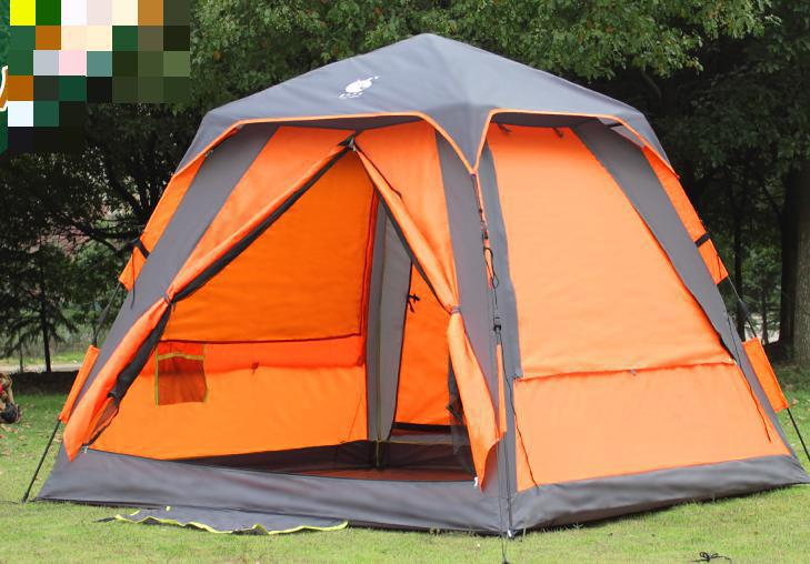3-4 people Outdoor Full Automatic camping tent Rain Resistance Mosquito Uv Camping Tent(China (Mainland))