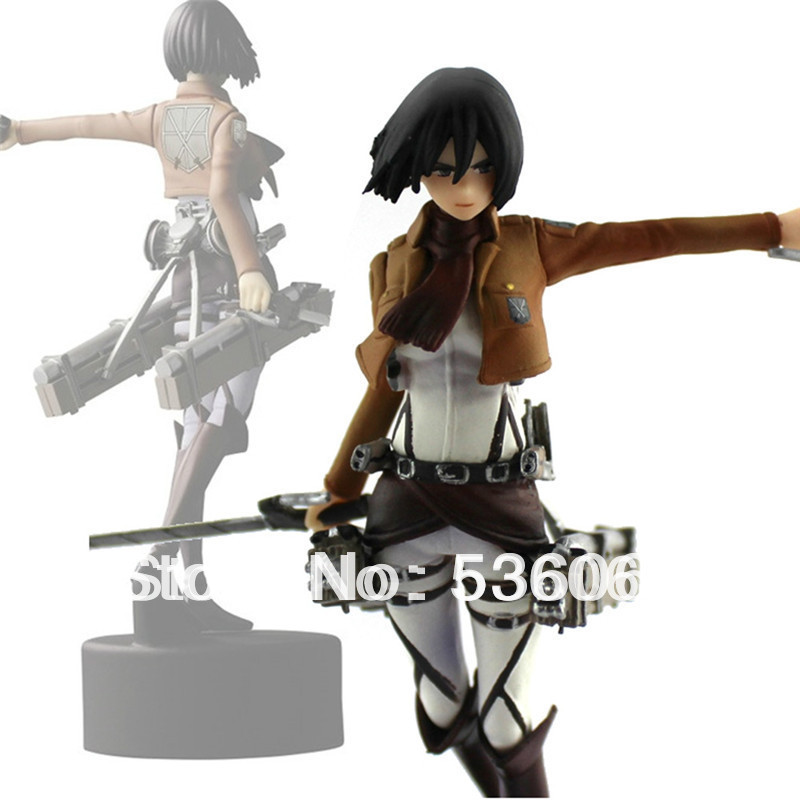 "4.7"" Shingeki No Kyojin Attack On Titan Mikasa Ackerman PVC Figure Doll Gift New Free Shipping(China (Mainland))"