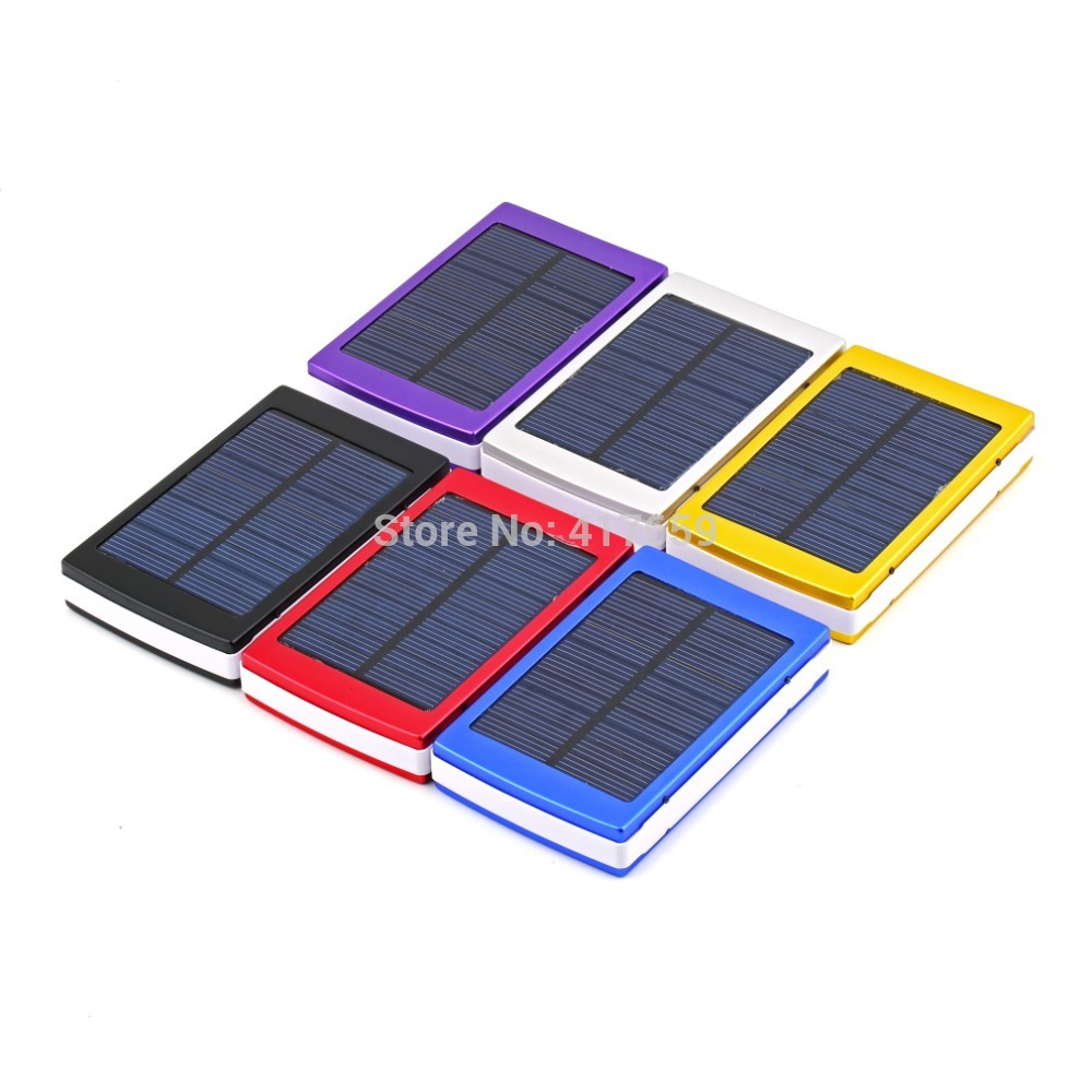 50000mAh Dual USB Solar Power Panel Portable Solar Charger External ...