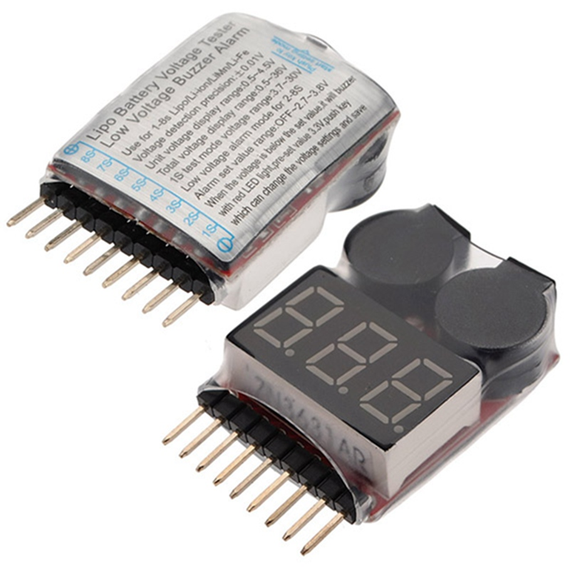 Hot Sale New Arrival Special Offer Li-ion Li-Fe LiPo Battery akku Tester Low Voltage Buzzer Alarm Indicator Tester RC 1S-8S(China (Mainland))