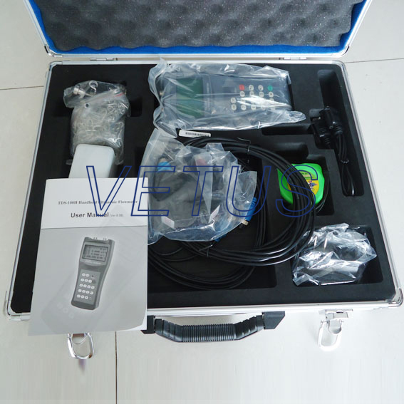 TDS-100H with M2 or S1 sensor Ultrasonic flowmeter water flow meter Fast shipping of DHL EMS FEDEX<br><br>Aliexpress
