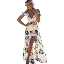 Buy 2017 Women Summer Vintage Boho Long Maxi Evening Party Beach Dress Floral Sundress Side Slit Plus Size Sexy Dress for $10.39 in AliExpress store