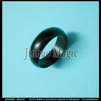 Free shipping Powerful Black magnetic ring magic tricks,20pcs/lot,for magic props wholesale