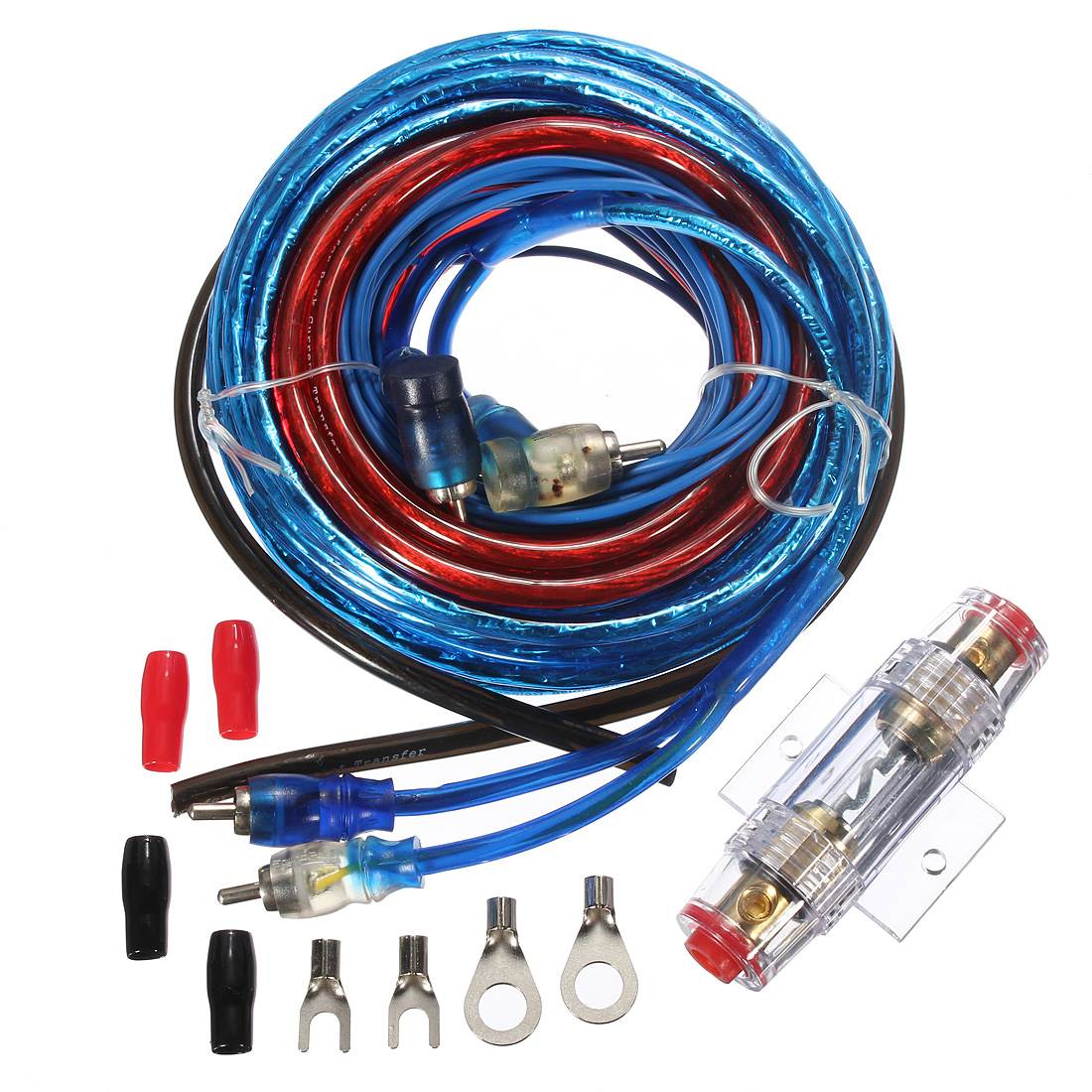 2016 Brand New 8GA 500W Car Subwoofers Amplifier Wiring Complete Cable Speaker Kit Vehicles(China (Mainland))