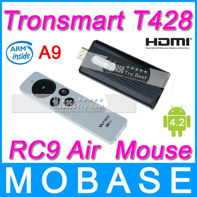 [Measy RC9 Air Mouse] Tronsmart T428 Quad Core TV Box Android 4.2 Mini PC RK3188 Cortex-A9 1.8GHz 2G/8G Broadcom AP6330 BT WiFi