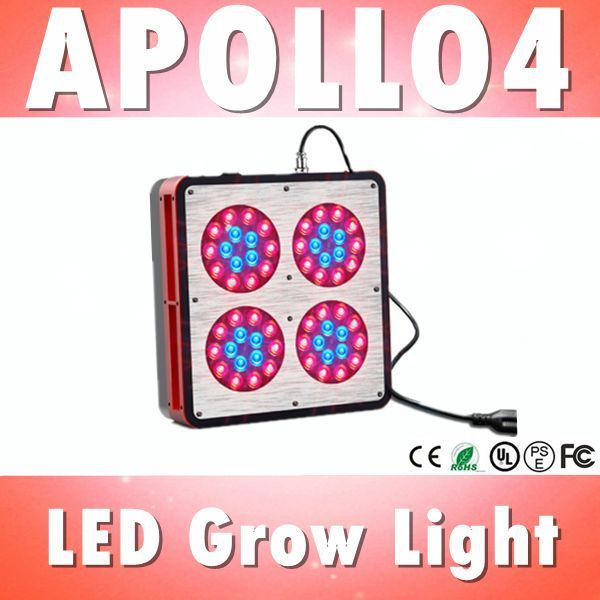 Free shipping Apollo 4 LED grow light 60*3W griculture Greenhouse, grow tent, grow box, hydroponic systems