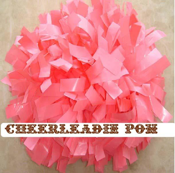 "cheerleading Pom poms 3/4""x 6""~custom color wet plastic pink handmade new hot sale mini order 10 pieces(China (Mainland))"