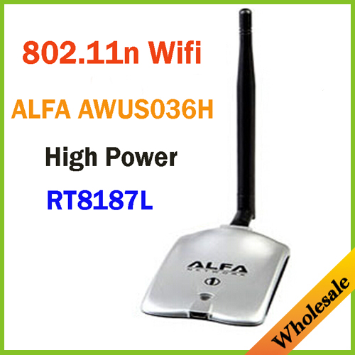 New 2014 High Power ALFA AWUS036H 1000MW WIFI Wireless USB Network Adapter 5DB Antenna with Realtek8187L,Wholesale Dropshipping(China (Mainland))