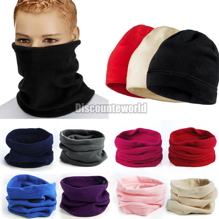 product New Unisex Men Women Thermal Warm Fleece Snood Scarf Neck Warmer Beanie Ski Balaclava Hat 9 Color(fx273)