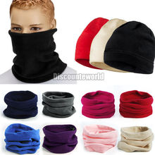 New Unisex Men Women Thermal Warm Fleece Snood Scarf Neck Warmer Beanie Ski Balaclava Hat 9 Color(fx273)