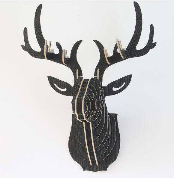 DIY wall mouted Deer Head,3D home decor items(China (Mainland))