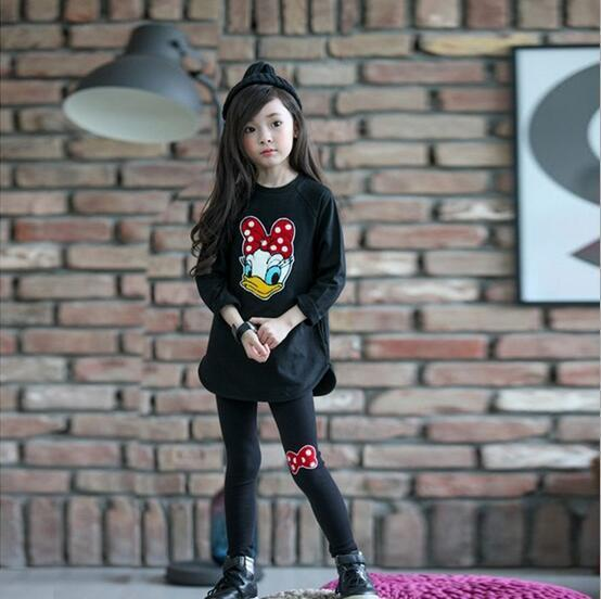 New Design Childrens clothing child set autumn female child set T-shirt long-sleeve top trousers baby twinset spring and autumn(China (Mainland))