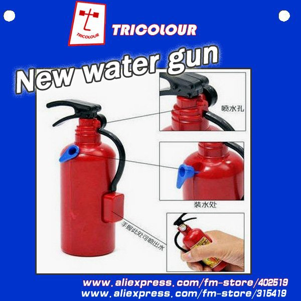 HK POST FREE!!! Halloween party gift Novelty Plastic fire Extinguisher water squirt gun party toys 20pcs/lot #LS05(China (Mainland))
