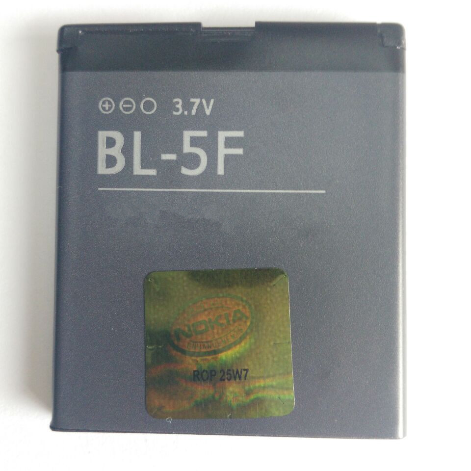 5Pcs/ Lot BL-5F bl 5f 950mAh Rechargeable Mobile Battery Bateria for Nokia 6210si/6210n/6210s/6260s/6290/6710n/e65/n93i/n95/n96(China (Mainland))
