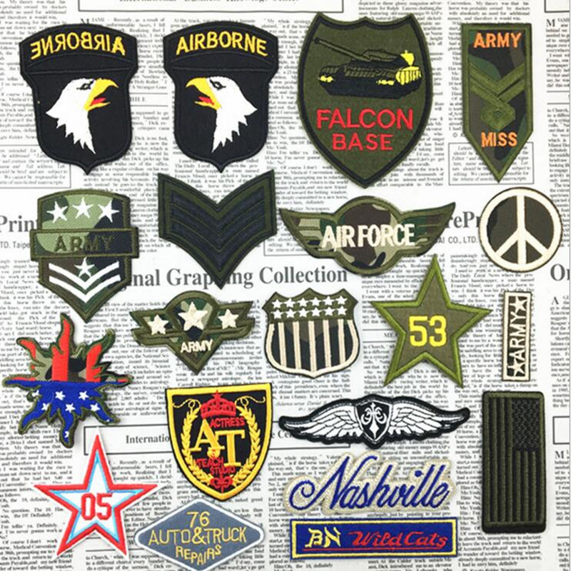 The Eagle Tanks Peace Army Style Cartoon Patch Post Computer Embroidery Decorative Pressing Back Glue Stick Badge A350(China (Mainland))