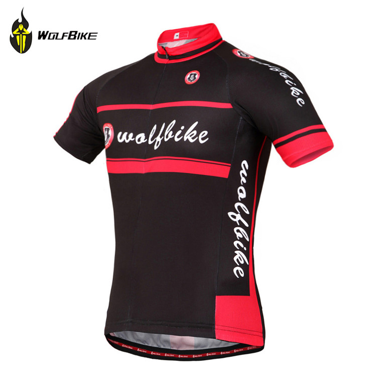 WOLFBIKE Unisex Cycling Jersey ciclismo moto MTB Bike Bicycle Breathable Shirt Top Riding bike wear cycling clothing