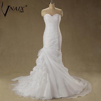 Wv276 в наличии новый Fation реальные фотографии свадебные платье на заказ из органзы простой элегантный русалка свадебное платье 2015