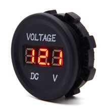 DC 12V LED Digital Display Voltmeter Waterproof for Boat Marine Vehicle Motorcycle Truck ATV Camper Caravan Automobiles-Red LED(China (Mainland))