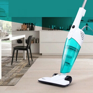 Hot sell New Ultra Quiet Mini Home Rod Vacuum Cleaner Portable Dust Collector Home Aspirator White&Blue Color HEPA Filter,cooki(China (Mainland))