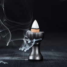 Free Shipping Ceramic Smoke Backflow Tower Incense Holder Retro Small Incense Seat Cone Incense Burner Accessories(China (Mainland))