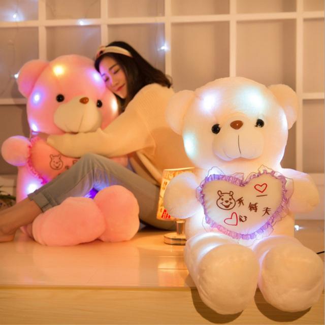 50 см Музыкальные игрушки Медведя плюшевые игрушки Чучела Животных Большие Подушки подушки Милые Мягкие и Плюшевые Игрушки Дети куклы Прекрасный Медведь кукла