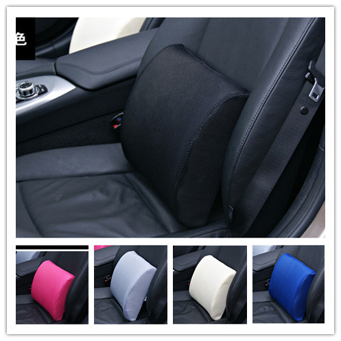 Free shipping New Car memory remember cotton seat neck pillow lumbar support auto upholstery supplies cushion chair massage(China (Mainland))