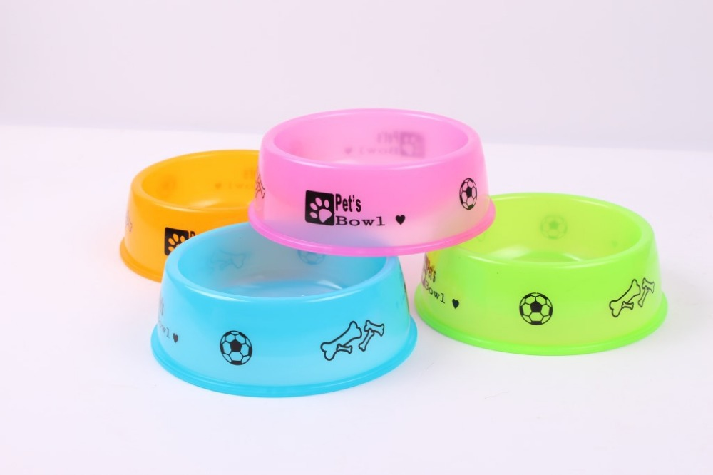 Free Shipping High quality Personalised PP Plastic bowl pet bowl cat bowl High temperature resistant bowl small dog supplies(China (Mainland))
