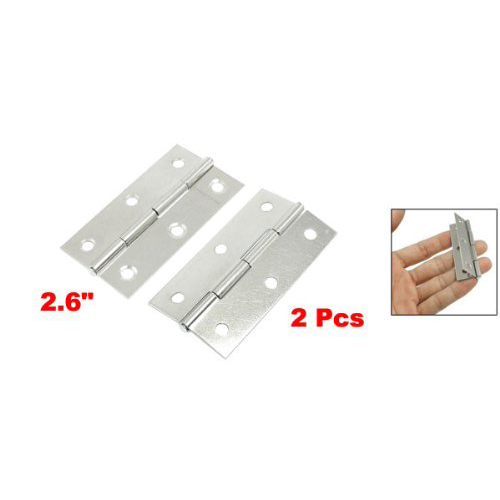 FJS Wholesale New 2.6 Silver Tone Polished Stainless Steel Home Door Butt Hinges Pair<br><br>Aliexpress
