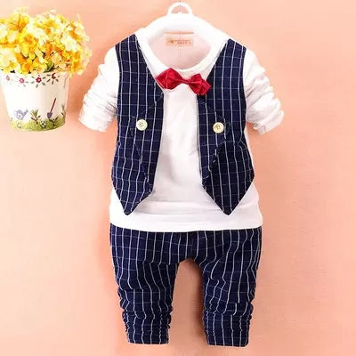 50 Off 2015 Fashion Baby Boy Spring Clothes Gentleman Suit
