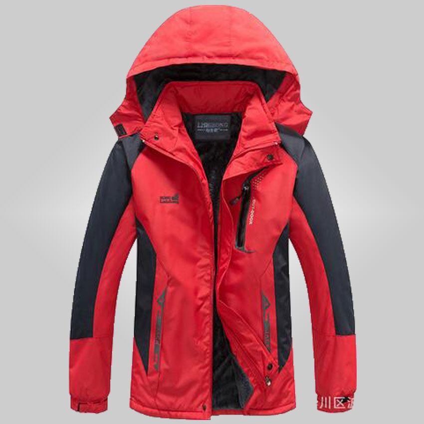 2015 Winter women hot pearl velvet jacket female waterproof false two sets thicken windbreaker XL-3XL 60df