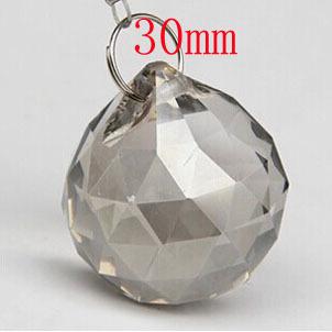 102pcs/lot 30mm smoked gray glass garland ball for window curtain decor wedding centerpiece chandelier decor free shipping<br><br>Aliexpress